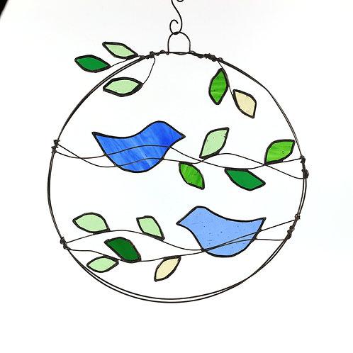 Wire Art Two Blue Birds