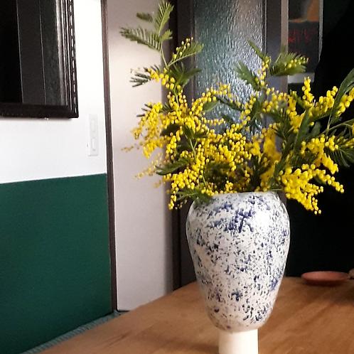 Blue spotted vase