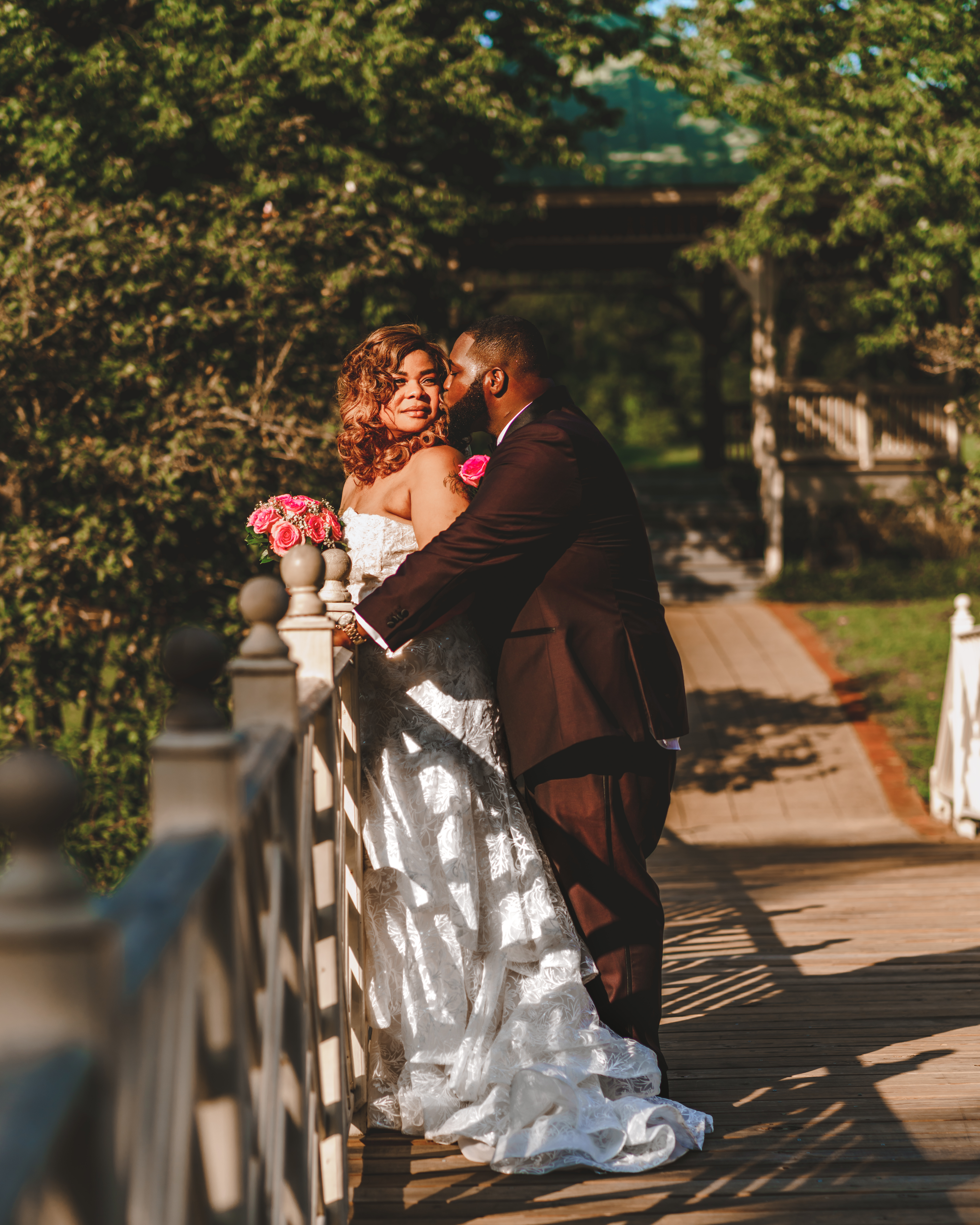 Couple, Bridge, Wedding