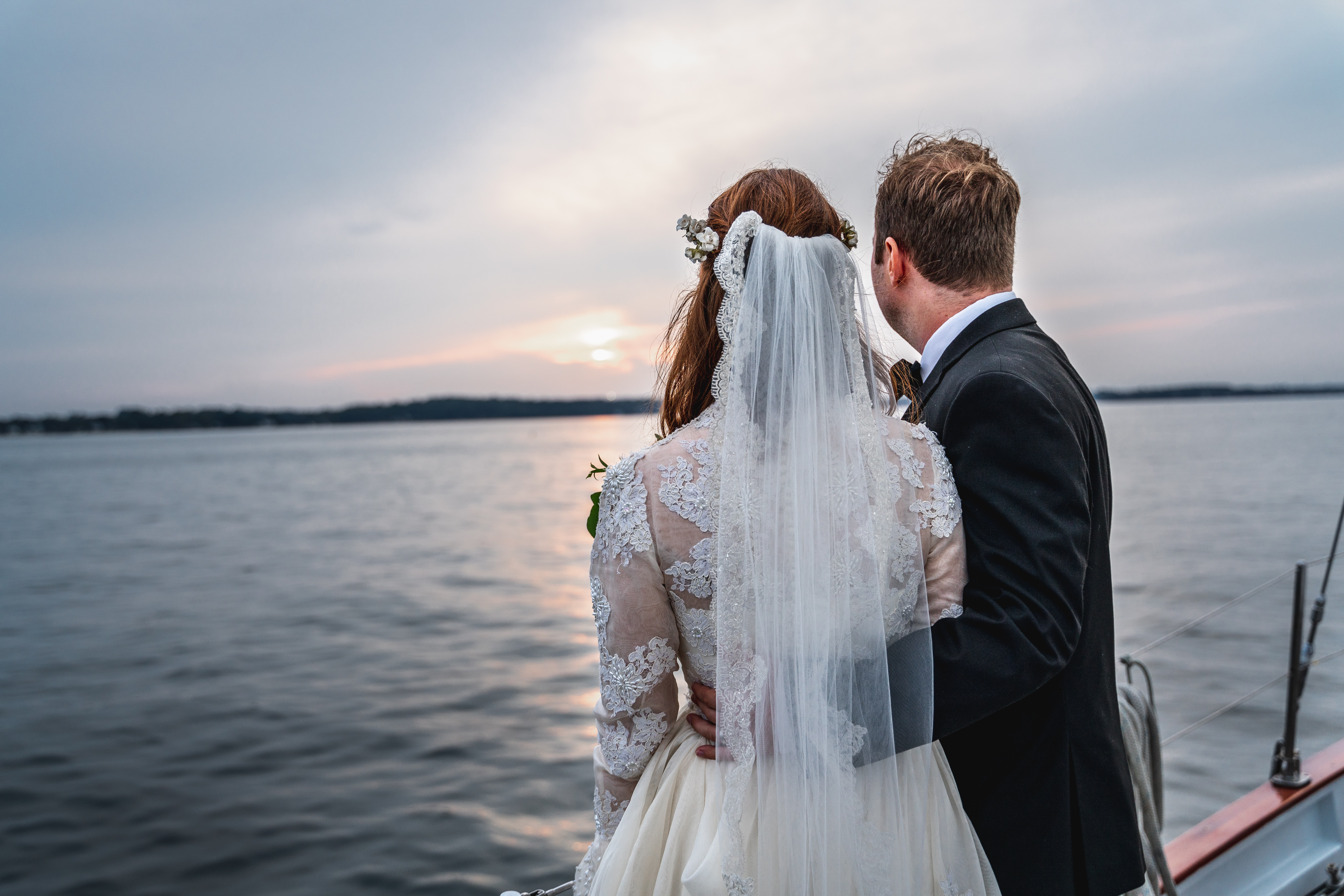 Couple, Boat, Wedding