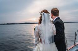 Couple, Boat, Wedding