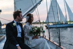 Boat, Couple, Wedding