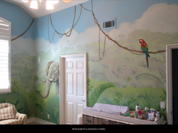 Jungle Mural for boy's Nursery.
