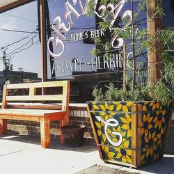 #restaurant #bar #neighborhood #marvista #gravlax #flowers #plants #planter #custom #gigs #chalavie