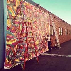 Finally found a wall big enough to work on that bad boy promoting First Mar Vista art walk