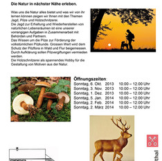 Jagd, Pilze und Holzschnitzerei