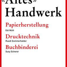 Altes Handwerk Papier – Papierdruck - Buchbinderei