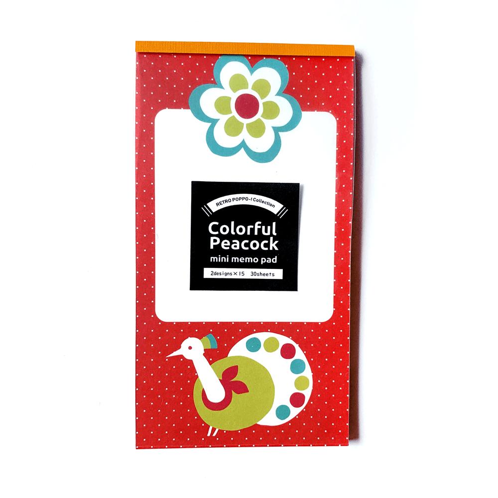 カラフルピーコックのメモ帳