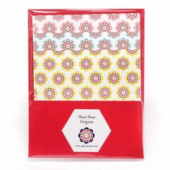 しゃんしゃん傘のミニ折り紙 3色セット