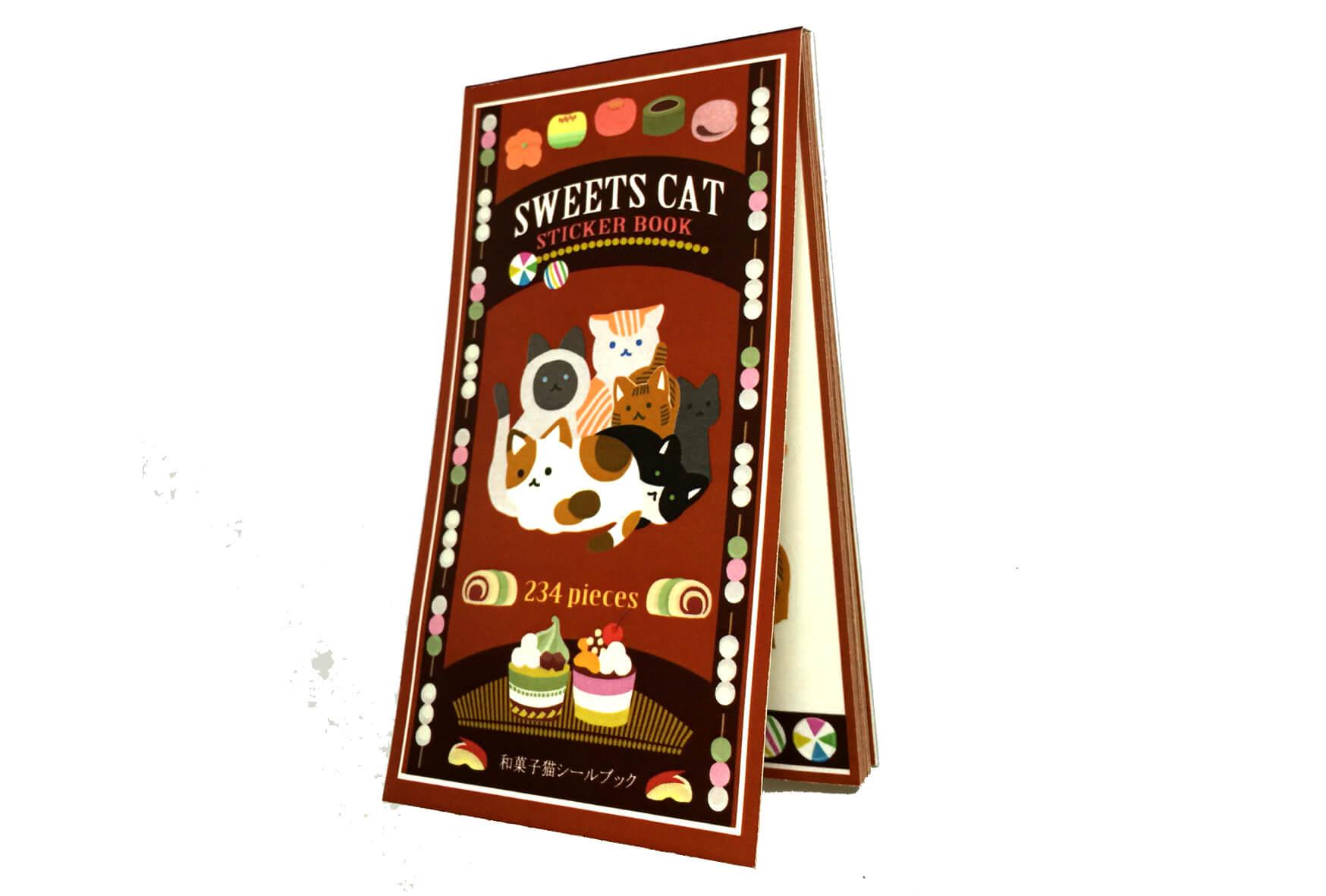 和菓子猫シールブック