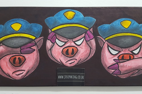 3 WISE PIGS (ORIGINAL)