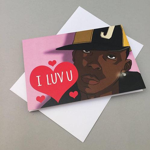VALENTINES CARD - I LUV U