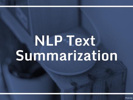 Text Summarization