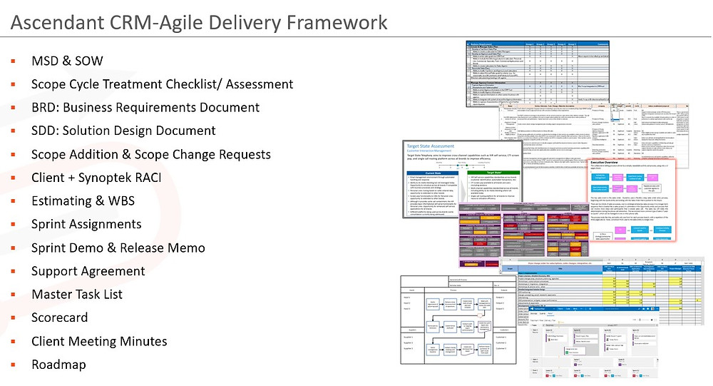 Ascendant's unique CRM project management framework provides all the delivery tools to succeed with great PM