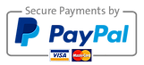 Payment options include PayPal, Visa or Mastercard