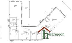 Enplan vinkel 206 m²