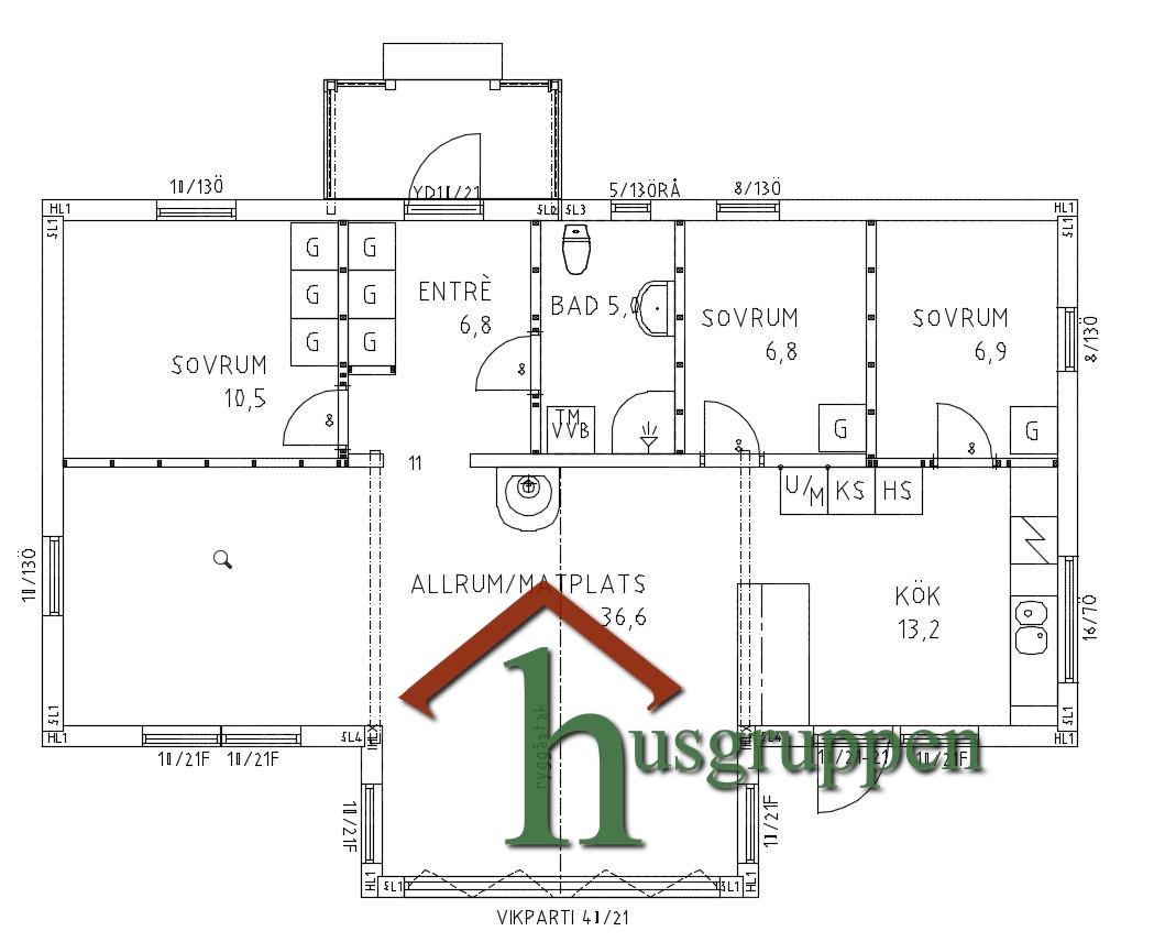 Enplanshus 89 m²