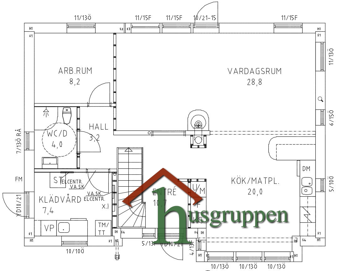 1,5-planshus 158,5 m²