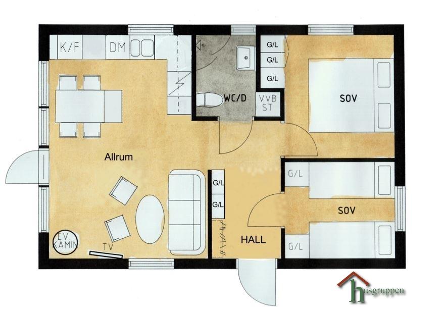 Fritidshus Mon 47 m²