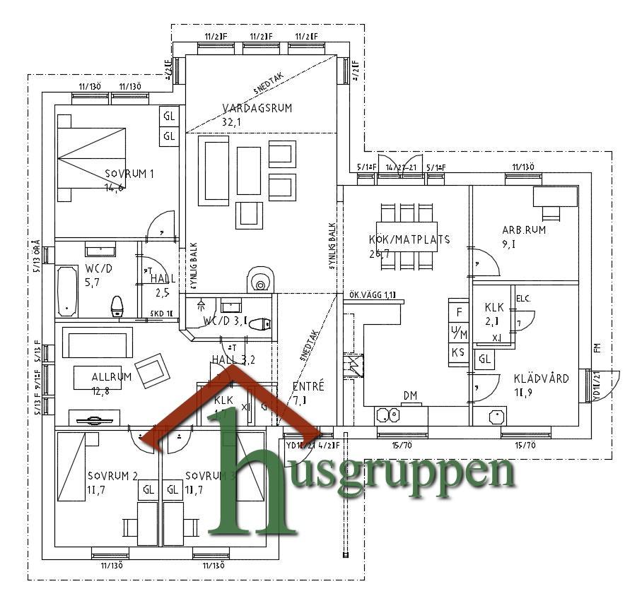 Enplanshus 162 m²