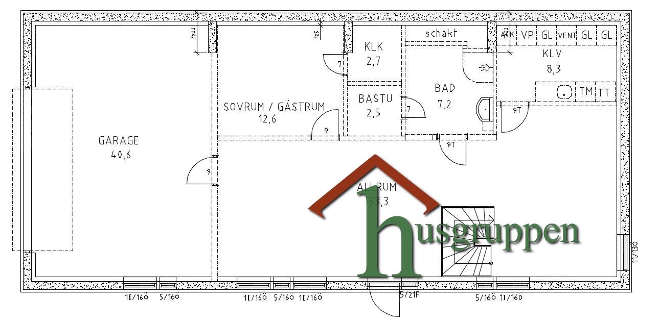 Suterränghus 248,5 m²