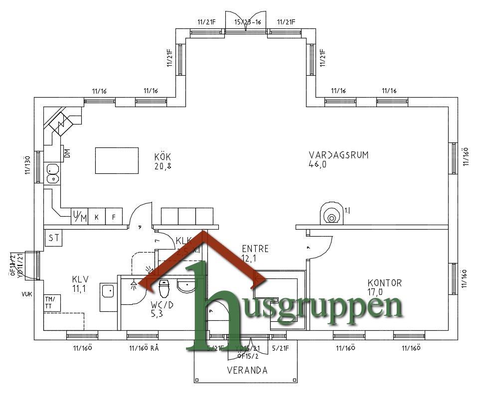 1 3/4-planshus 203 m2