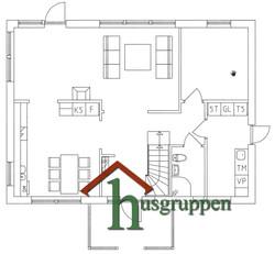 1,5-planshus 158 m²