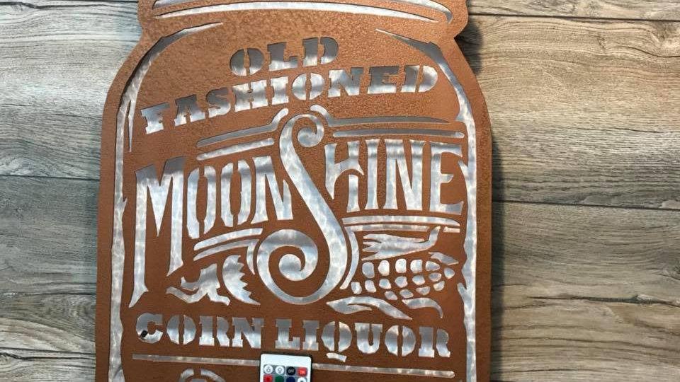 Back lit Moonshine Sign