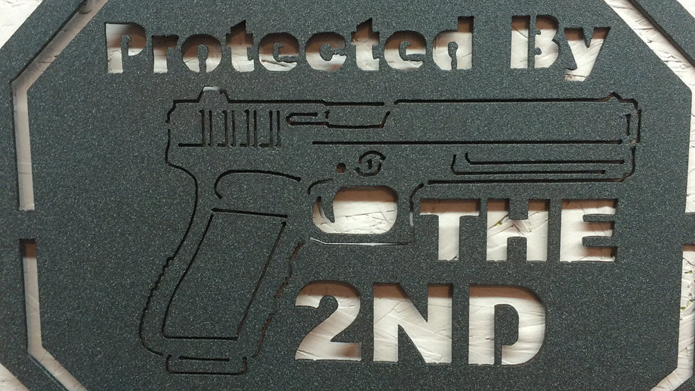 Protected by the 2nd Amendment wall art
