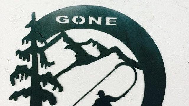"""Gone Fishing 15"""" Circle"""
