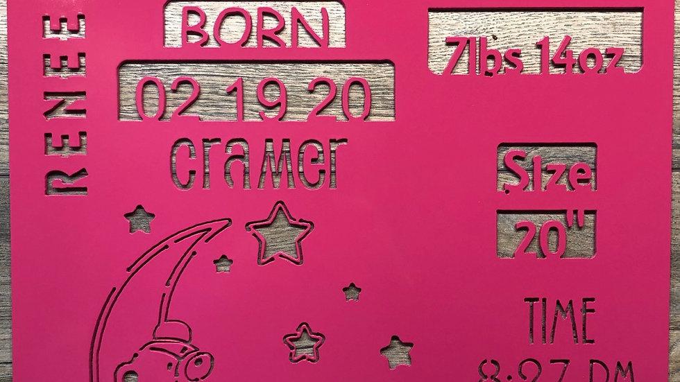 Birth Event Plaque