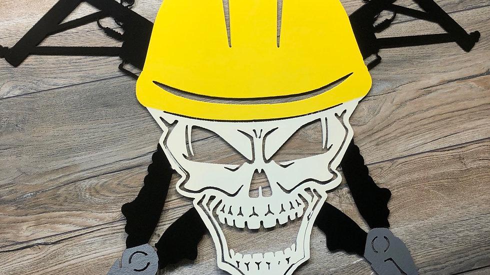 Lineman Skull Art