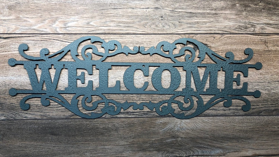 Welcome Scroll Sign