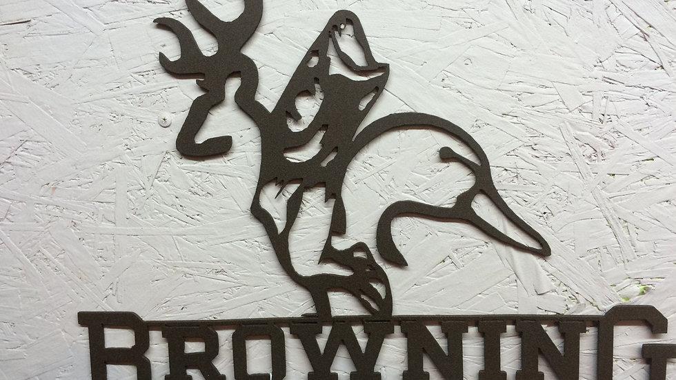 Browning Hunting metal art
