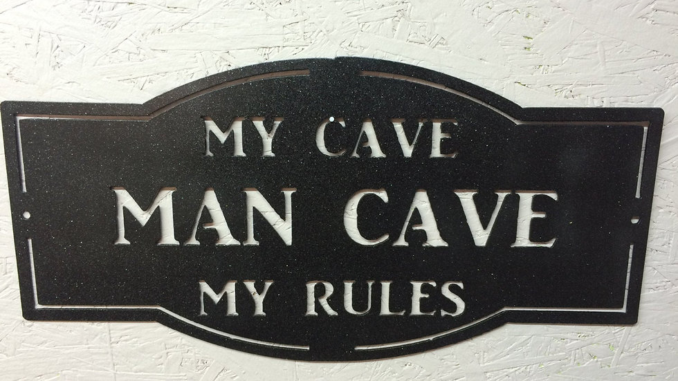Man Cave Sign 19.5 x 9.5