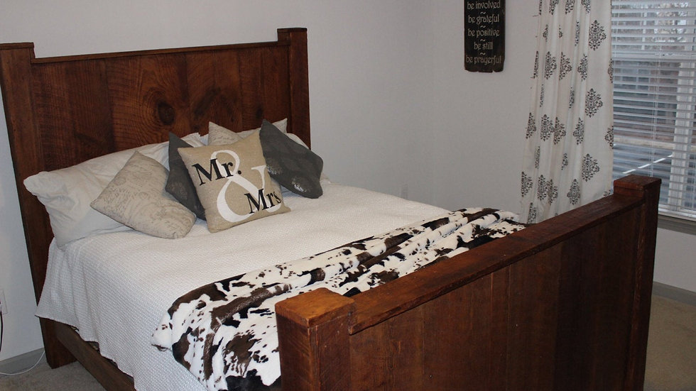 Custom Made Queen Size headboard footboard and side rails
