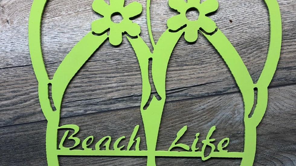 Beach Life Flip Flop wall art
