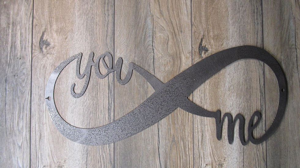 You and Me Infinity Wall art sign 23""