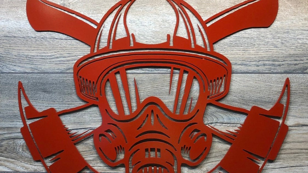 Fireman helmet and mask
