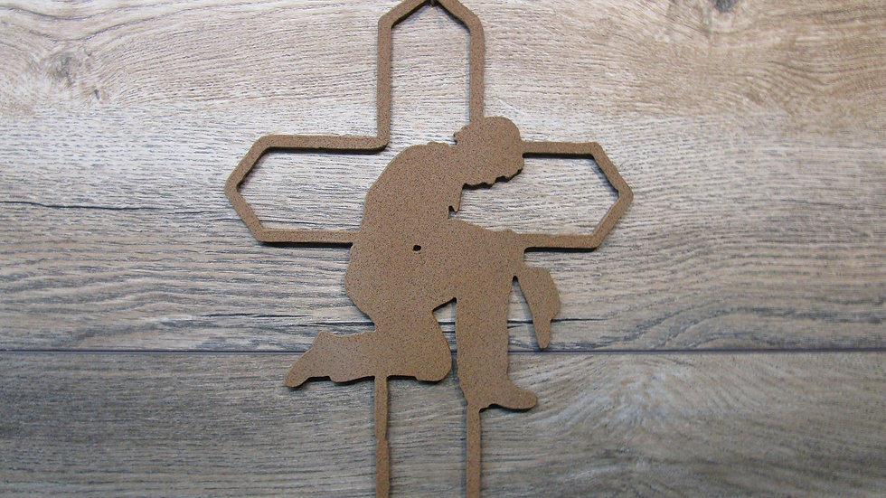 Cowboy Prayer Cross Wall Art