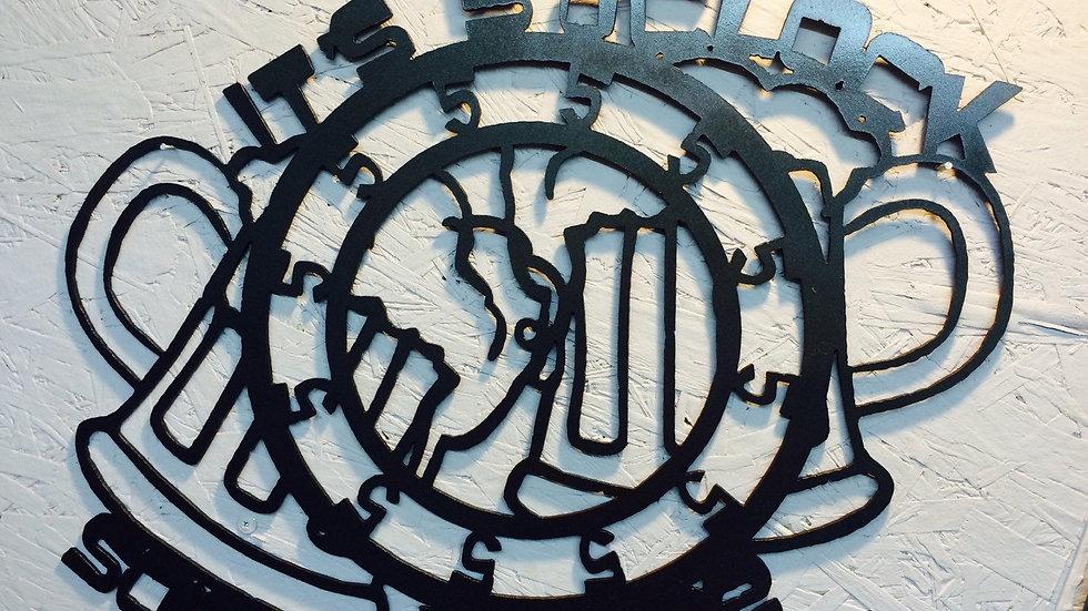 5 oclock somewhere metal art 19x17