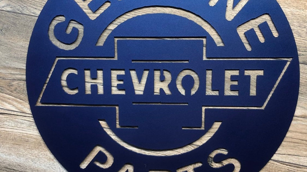 Chevy Genuine Parts Sign