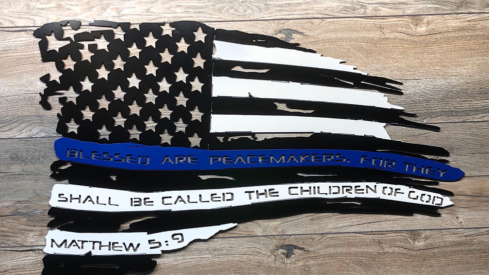 Law Enforcement Tattered Flag