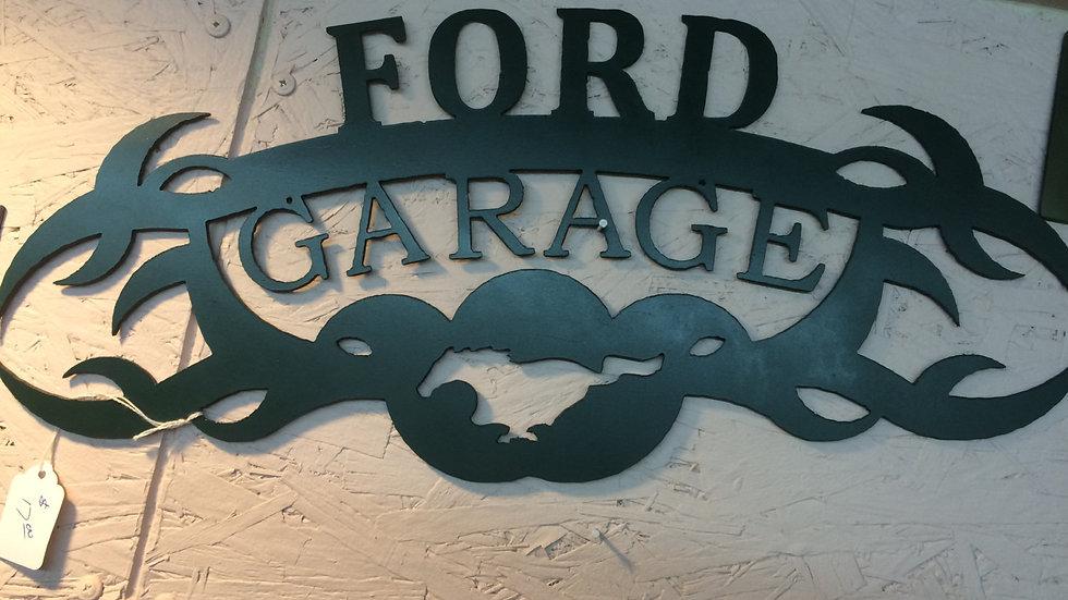 "Ford Garage, 19"" x 8.5"""