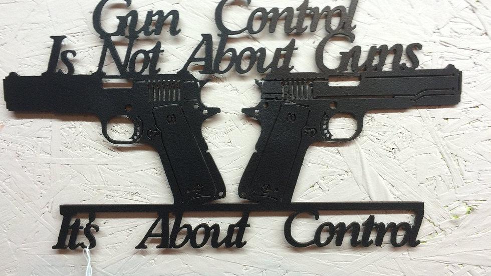 Gun Control Metal Art