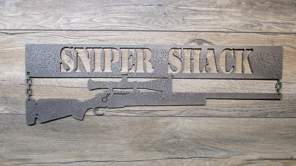 Sniper Shack wall art sign