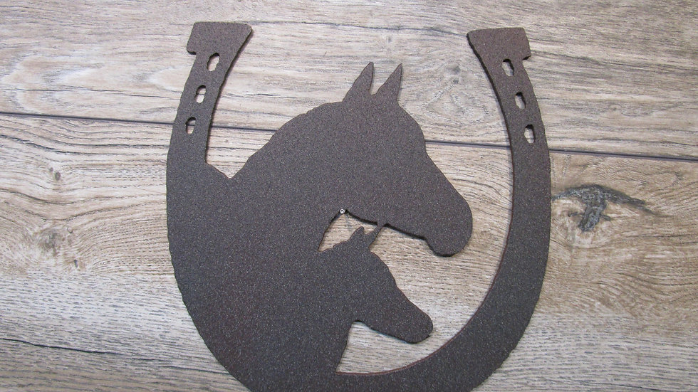 Horse Shoe with Horse head wall art