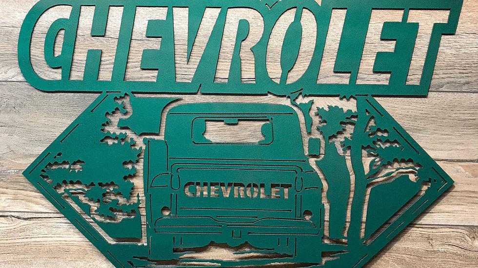 Chevrolet crossing sign