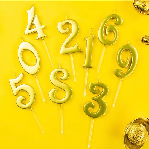 1 Golden number birthday candle