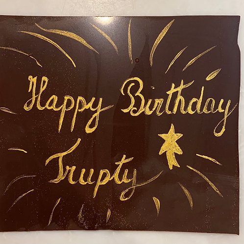 Personalized Happy birthday message